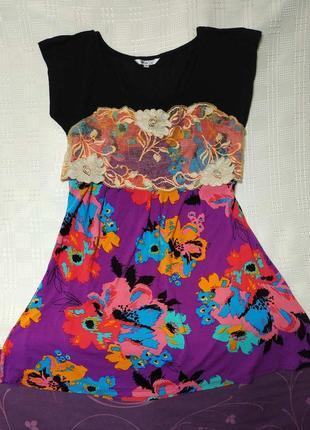Красивое  летнее платье 40-48-50 размер