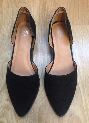 Туфли на низком каблуке h&m