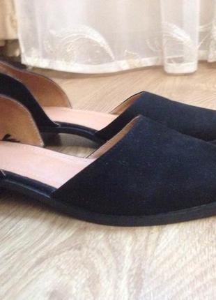 Туфли на низком каблуке h&m3 фото