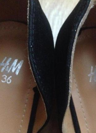 Туфли на низком каблуке h&m2 фото