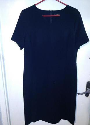 Стрейч,чёрное платье-футляр,по фигуре,офисное,элегантное,большого размера,m&s,англия