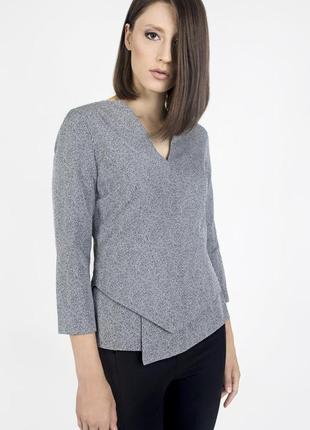 Вискозный топ/блуза с ассиметричным низом британского бренда rose&willard