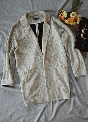 Удлиненный жакет пальто пиджак