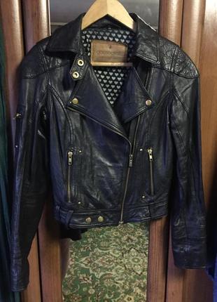 Gooscraft, шкіряна курточка-косуха, xs, 34-36рр.