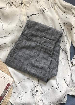 Зауженные брюки/штаны/чиносы/дудочки в клетку