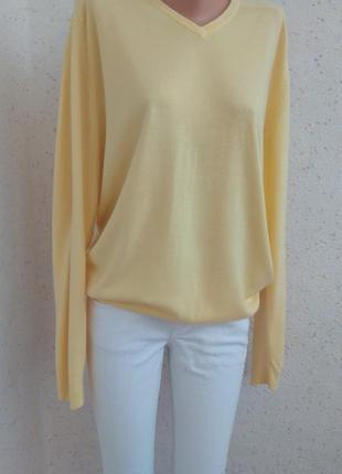 Стильный,мягкий, яркий желтый пуловер#большой размер.