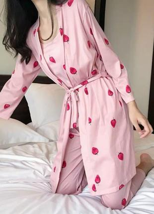 Пижама спальный костюм пушап ночнушка