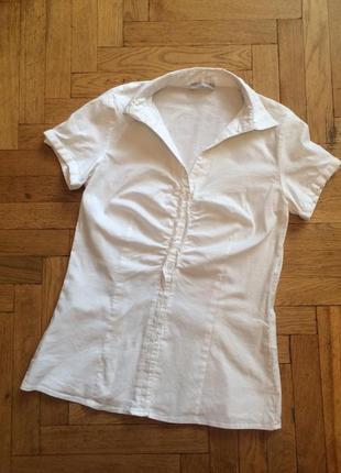 Белая ,классическая рубашка,блузка,хлопок,orsay