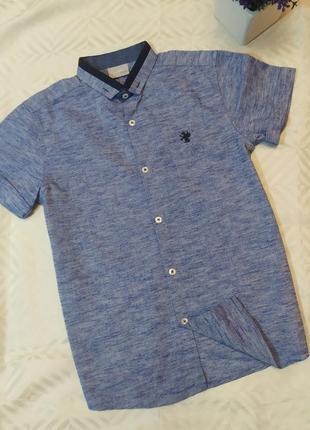 Оксфордская рубашка next на 8 лет, рост 128