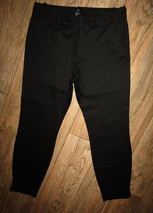 Укороченные черные брюки р-р 38-12 бренд h&m