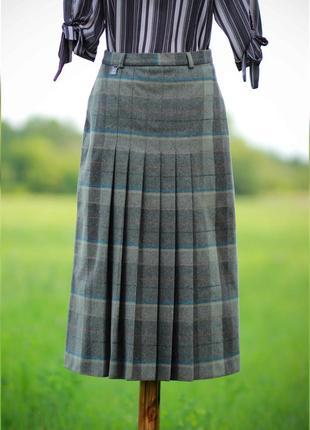 Винтажная юбка миди (стриженая шерсть)