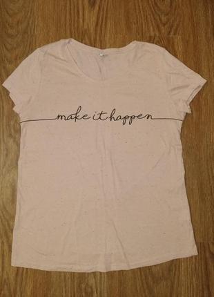 Молодежная футболочка с надписью