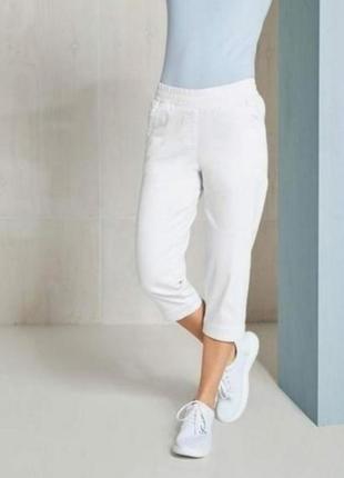 Стильные белые капри бриджи укороченые штаны esmara 36