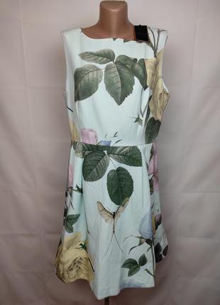 Платье новое шикарное в цветочный принт оригинал большой размерted baker 5 uk 18/46/xxl