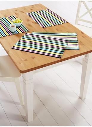 Комплект 4 шт. яркие салфетки для стола meradiso, германия