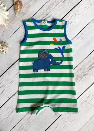 Яскравий ромпер - пісочник зі слоником