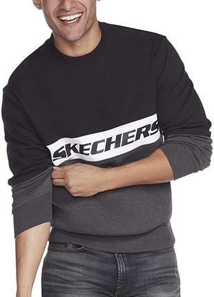 Свиншот кофта свитер толстовка sketchers размер l и xxl хлопок