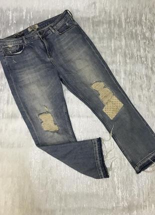 Стрейчевые джинсы рваные fat face p 40/42