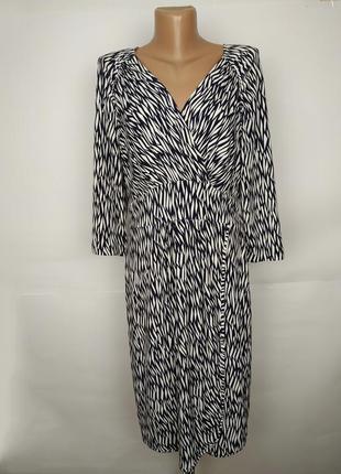 Платье стильное на запах в анималистический принт autograph uk 14/42/l