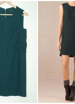 Зеленое платье massimo dutti
