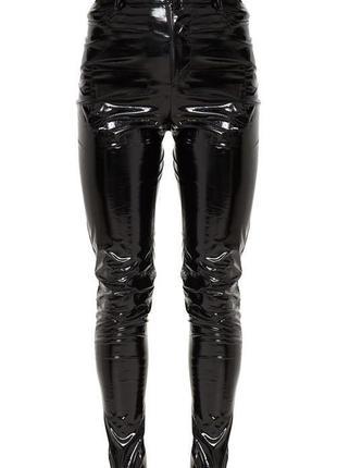 Крутые лаковые, виниловые штаны missguided - 16 р-р - на 14, 16