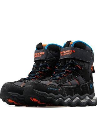 Оригинальные детские ботинки skechers hypno-flash 2.0 street breeze (90737l bkcc)