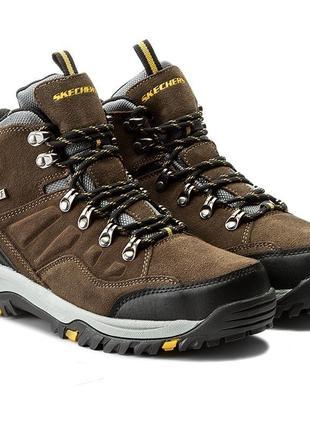 Оригинальные мужские ботинки skechers relment-pelmo (64869 khk)