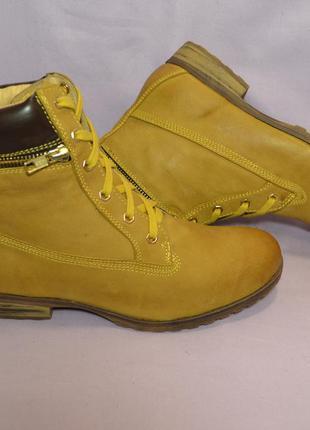 """Р38-38,5 """"pier one"""",германия, натуральная кожа! стильные,комфортные,добротные ботинки"""