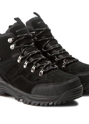 Оригинальные мужские ботинки skechers relment-pelmo (64869 blk)