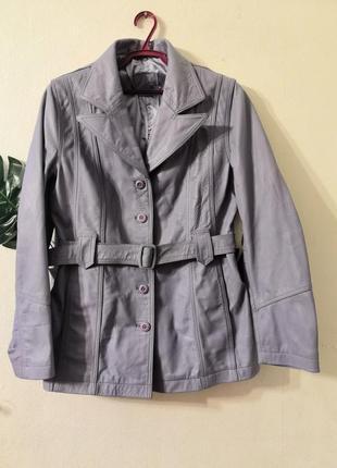 Винтажная кожаная куртка stradivarius