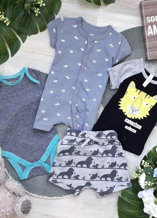 Комплект: шорти, футболка, пісочник, бодік primark