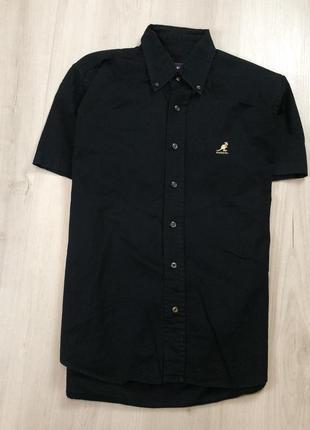 Z6 джинсовая рубашка kangol кангол шведка чёрная тенниска