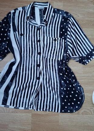 Крутая, стильная рубашка в полоску из 100% вискозы