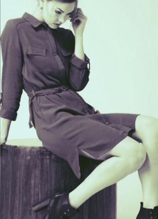 Платье рубашка, платье на пуговицах , платье марсала