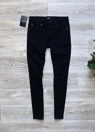 Штаны джинсы boohoo man skinny (32r)
