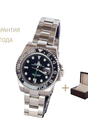 Часы мужские rolex gmt master ii /новые/2 года гарантии/ с коробочкой