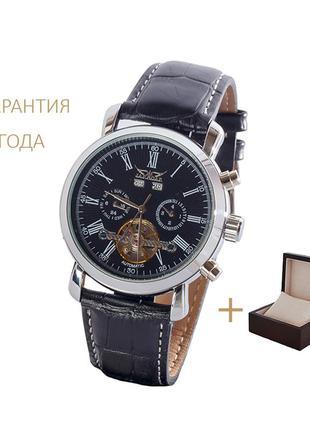 Часы мужские jaragar blacksilver/ новые/ гарантия 2 года/ с коробочкой