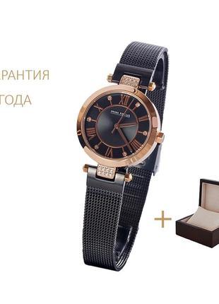 Часы женские mini focus gold-black/ новые/2 года гарантии/с коробочкой