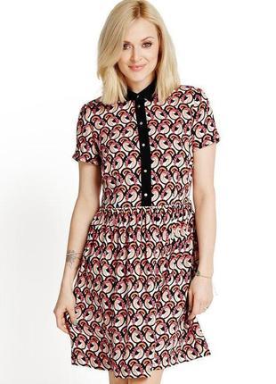 Платье свободное легкое в рубашечном стиле с черным воротником fearne cotton