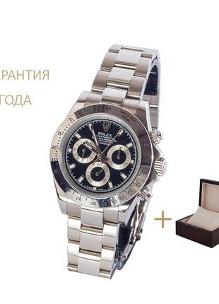 Часы мужские rolex daytona steel-black/новые/2 года гарантии