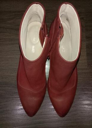 Кожаные ботильоны ботинки clarks