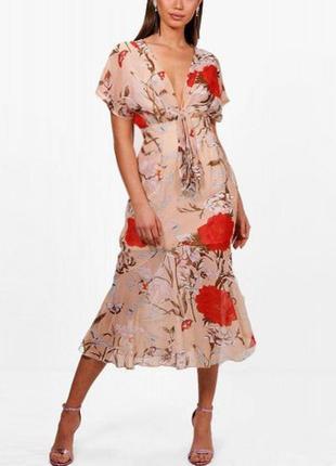 Платье boohoo миди с сайта asos