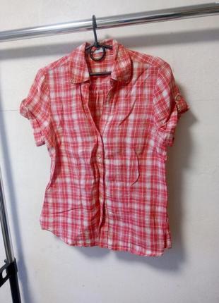 Блузка рубашка 100% лен размер uk 8 наш 42-44