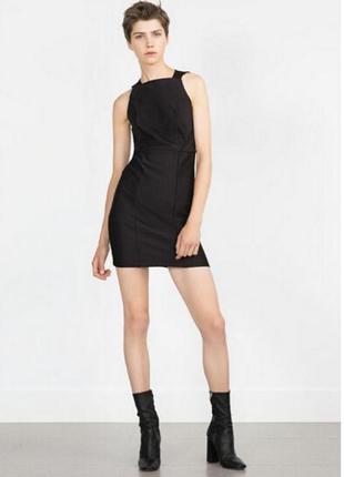 Чёрное платье футляр карандаш бандажное новое с биркой zara зара