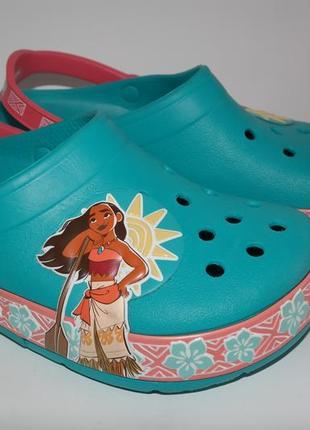 Crocs сабо кроксы для девочки светящаяся подошва