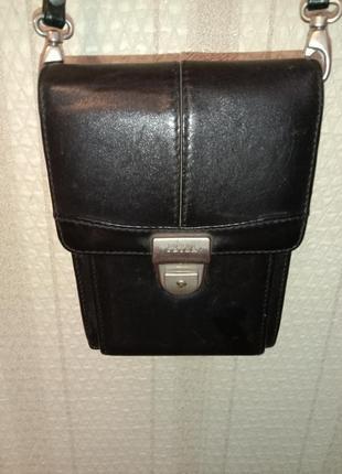 Кожаная сумка барсетка petek 1855