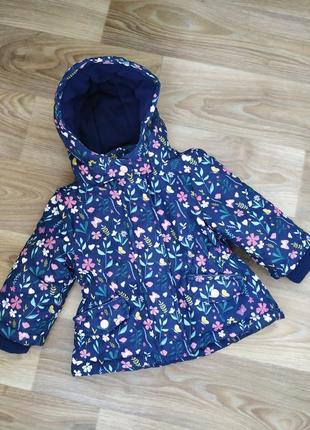 Демисезонная куртка   на флисе для девочки
