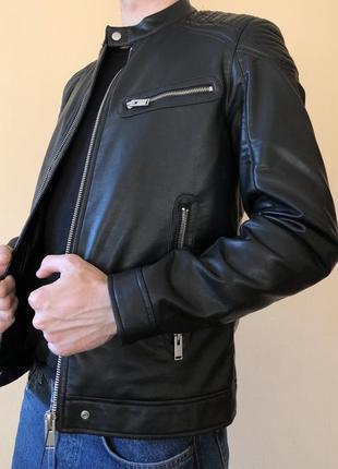 Куртка кожанка байкерская zara