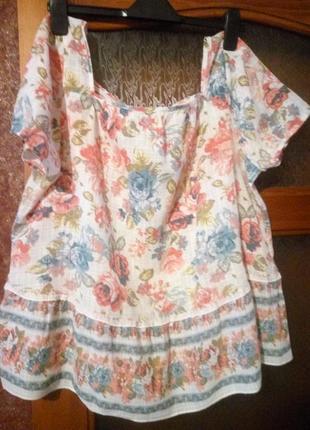 Натуральная 100% хлопковая блуза от tu,  50р.