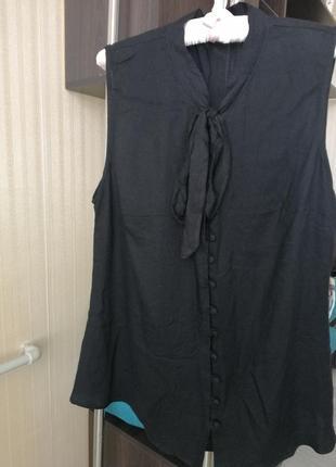 Майка блуза чорного кольору розмір виробника 14, нова, без бірки 💃👍